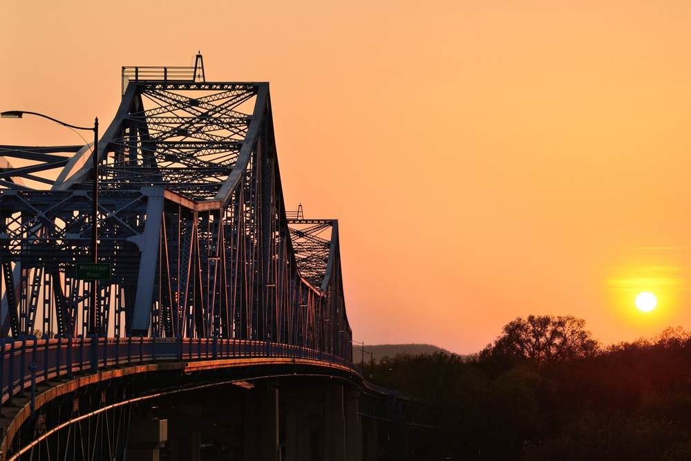 Gundersen Hotel and Suites - La Crosse, WI Bridges at Sunset.