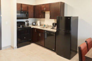 Gundersen Hotel and Suites - King Executive Studio Room, In-Suite Kitchen.